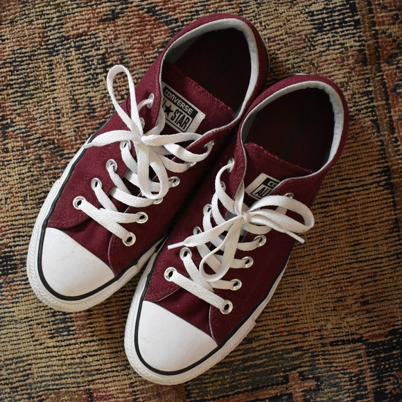 Converse Shoes   Garnet Converse Puffy